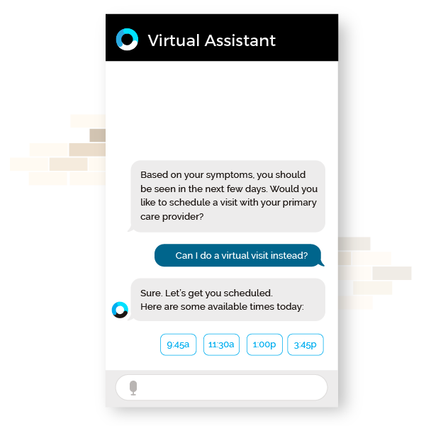 OrbitaENGAGE webpage featuring image of acquisition & conversion chatbot