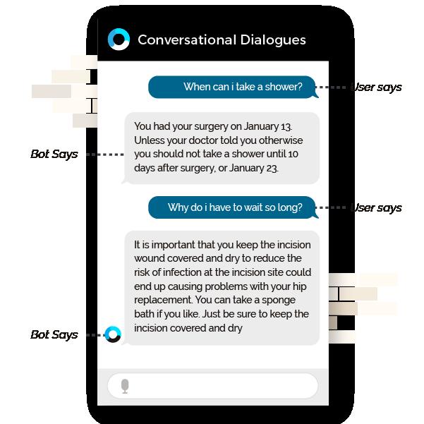 Orbita Platform webpage featuring Conversational dialogues chatbot