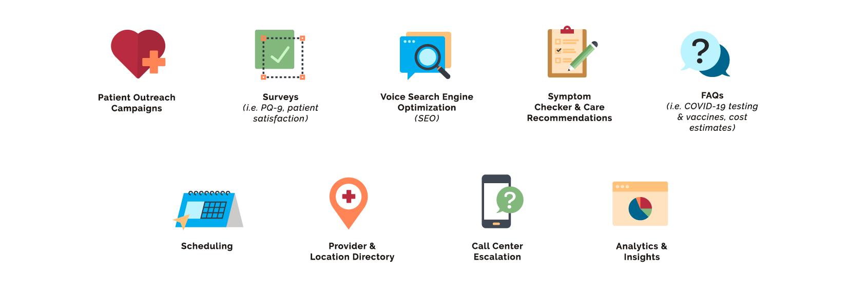 OrbitaENGAGE webpage featuring conversational modules graphic